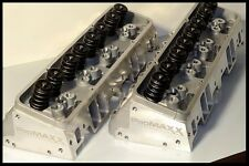 PROMAXX 200cc SBC CHEVY ANGLE PLUG ALUMINUM HEADS 64cc. 274-PROMAXX-200-A-64