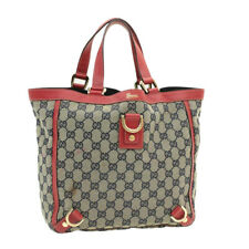 GUCCI GG Canvas Hand Bag Navy Red Auth 16044