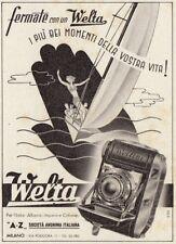 Z3711 Macchina fotografica WELTA - Pubblicità d'epoca - 1940 vintage advertising