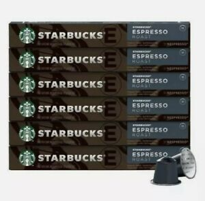 60 Starbucks Espresso Roast by Nespresso10 Capsules x 6 Pack Coffee EX 15/may/21