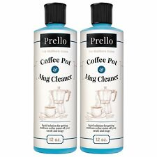 Prello Coffee Pot and Mug Cleaner - Removes Stains from Cups, Machines (2 PACK)