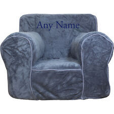 Insert For Anywhere Chair + Grey Plush Reg Cover Embroidered Blue
