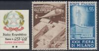 ITALY Repubblica - 1951  29^ Milan Fair  n.657-658 cv 220$ SUPER CENTERED MNH**