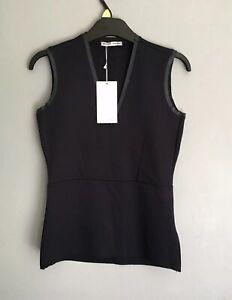 Zara Women's V-neck Sleeveless Polyester Vest Top Black Size S RRP£13 BNWT