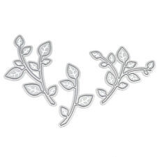 3 Pcs Metal Leaves Cutting Dies Stencils For DIY Scrapbooking Decor Paper Cards