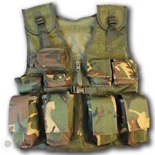 KIDS CHILDRENS DPM CAMO CAMOUFLAGE ASSAULT VEST WEBBING ARMY POUCHES SOLDIER 95