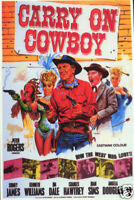 Carry on Cowboy 1966 Peter Rogers Cult Western Movie poster print