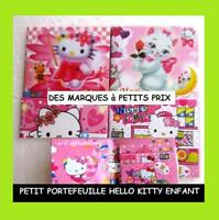 PETIT PORTEFEUILLE PLASTIFIE CHAT HELLO KITTY FILLE ENFANT PHOTO CARTE JEU JOUET