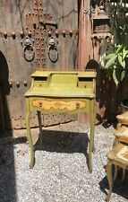 Small Painted Country French Writing Desk Chippy Cottage Shabby Chic Ormolu