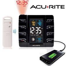 AcuRite Projection Alarm Clock w/ Temperature + USB Charging Intelli-Time