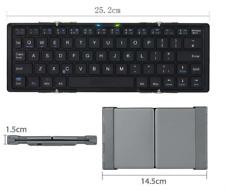 Bluetooth Foldable Keyboard Wireless Keyboards for iPhone 7 iPad Pro iPad Air bk