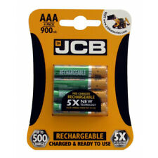 JCB Rechargeable AAA Batteries - 900mAh - Pack of 4 [S5352]