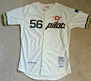 Jim Bouton 1969 Seattle Pilots Mitchell & Ness Cooperstown Collection Jersey NWT