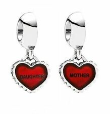 Pandora Charm Piece Of My Heart Daughter Red Enamel Silver