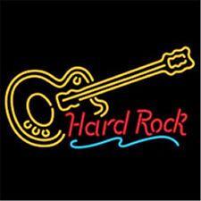 "17""x14"" Hard Rock Live Music Guitar Beer Bar Neon Light Sign"