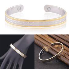 Double Color Copper Bracelet Arthritis Bio Pain Relief Pattern Magnetic Bangle