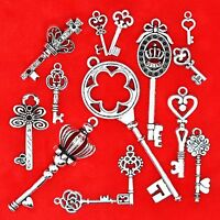25g Tibetan Silver Vintage Key Mixed Pack Variety Charm Pendant Jewellery Making