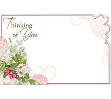 """50ct """"Thinking of You"""" Bouquet Flowers Blank Florist Enclosure Cards Small Tags"""