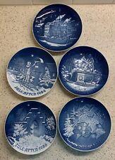 Bing & Grondahl Copenhagen Blue Christmas Plates Lot of 5 – 1980's