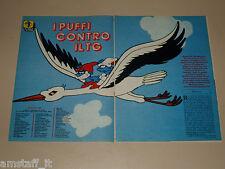 I PUFFI CONTRO IL TG clipping articolo fotografia 1983 AT27 CARTONE ANIMATO