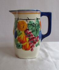 "Vtg. Ditmar Urbach Art Pottery Pitcher Hand Painted Czechoslovakia 7.25"" Tall"