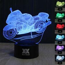 Sport  Motorrad 3D LED  Tischlampe Farbwechsel Leselampe Nachtlicht Geschenke