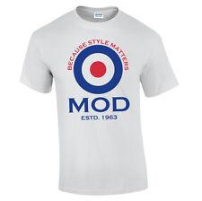 Objetivo Mod Camiseta AÑOS 60 DISEÑO ORIGINAL Look Clásico Mods ROCKEROS Estilo