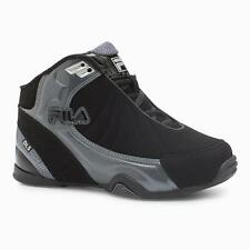Boys Sz 5 Fila DLS Black Gray High Top Sneakers Kids Gym Athletic Casual Shoes