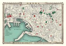 George Bradshaw'S CONTINENTAL Piano della città di Genova 1896 - 1000 Pezzo Puzzle