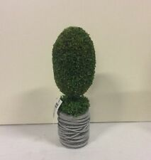 New Design Potted  31cm Artificial Pot Plant / Topiary Green 'Pear Shaped'  Bush