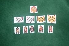 1/6  British Grenadier, Coldstream, Irish, Welsh, Scots Guards rank patches