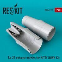 Reskit RSU48-0117 - 1/48 Su-27 exhaust nozzles for KITTY HAWK Kit scale model UK