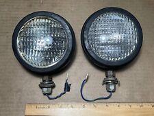 Pair Of Vintage Genuine Guide John Deere Tractor Fender Work Lights Made In Usa