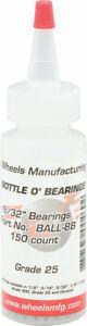 """Wheels Manufacturing Grade 25 5/32"""" Loose Ball Bearing: Bottle of 150"""