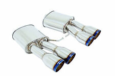Megan Stainless Steel Axleback Exhaust BMW F10 M5 11-16 Burnt Roll Tips