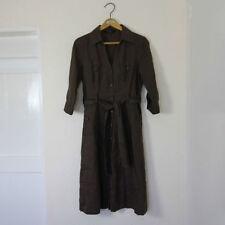 Linen Regular Collar Midi Dresses for Women