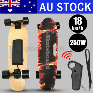 Kids Adult Electric Skateboard Power Motor with Remote Cruiser Maple Long