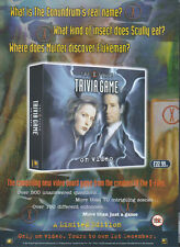 The X-Files Trivia Game 1997 Magazine Advert #4284