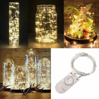 2M 20 LEDS Copper Silver Wire LED Starry Lights String Fairy Battery Powered