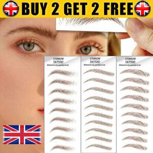 Waterproof 6D Eyebrow Tattoo Hair-like Stick on Brow Makeup Cosmetic Stickers UK