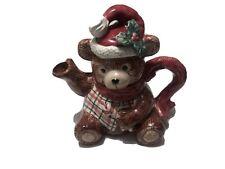 New ListingFitz and Floyd Christmas Bear Teapot