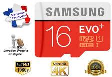 Carte Mémoire Micro SD SDXC Class 10 Samsung Evo Plus 16 Go avec Adaptateur