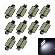 10X White 39MM 40MM 6476 8 SMD 5050 LED Festoon Light Interior Bulbs Car ZI203