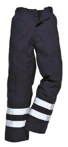 Portwest Ballistic Trousers Half Elastic Waist HI VIS Abrasion Resistant S918 XL