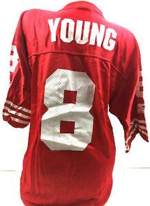 Vtg 90s Steve Young Mens Jersey San Francisco 49ers #8 Starter NFL Football 46 M