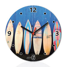 Surf Boards Summer Lovely Round Wall Clock Home Office Room Decor