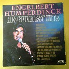ENGELBERT HUMPERDINCK HIS GREATEST HITS Vinyl LP DECCA SKL 5198UK