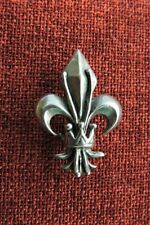 Fleur De Lys Brooch Pin French Lily Queen Knight King Renaissance France Pewter