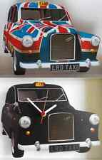 LONDON HACKNEY CAB / TAXI WALL CLOCK.NEW & BOXED.BLACK OR UNION JACK DESIGN