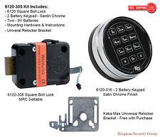 Sargent and Greenleaf S&G 6120-305 Electronic Keypad & Lock Kit - Satin Chrome
